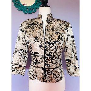 JS Collections Asian kimono 100% silk jacket